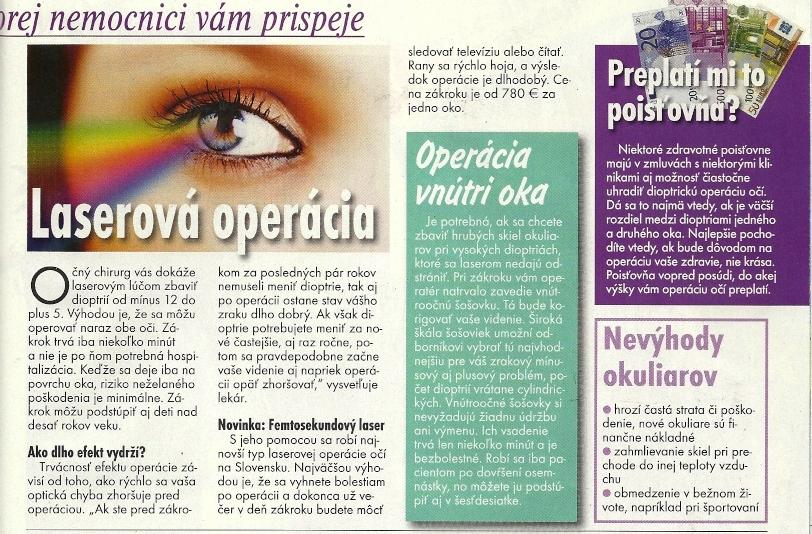 Okuliare vs. laserové očné operácie. V Báječnej žene (1. časť   2. časť) z  marca 2011. 789516649d0
